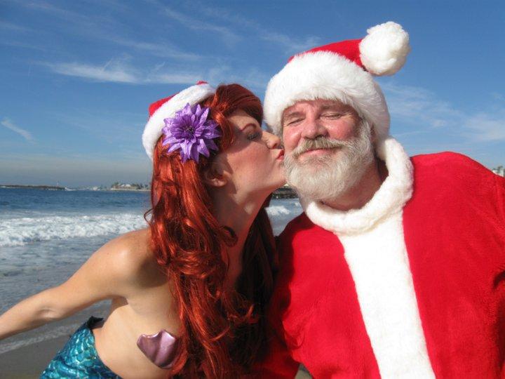 Ariel and Santa