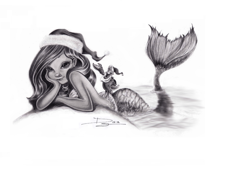 ariel_christmas_time_by_cloudstrive