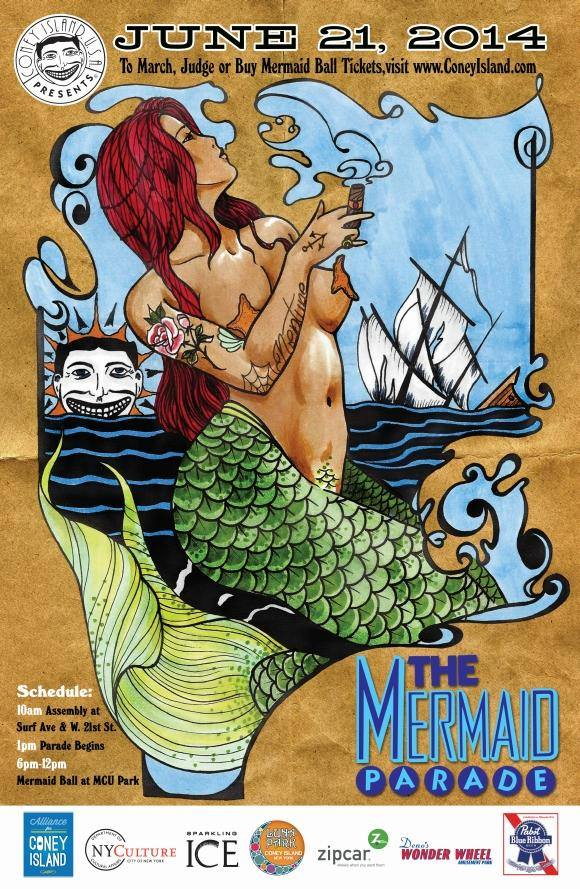 Mermaid Parade 2014 Poster Artist Joe Khay