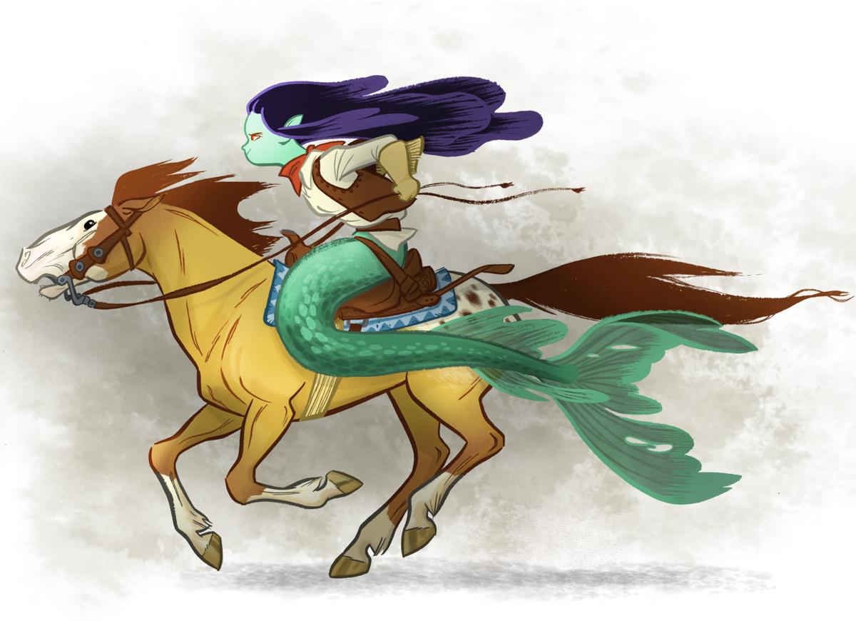 Mermaid Cowgirl by Rebecca Dart