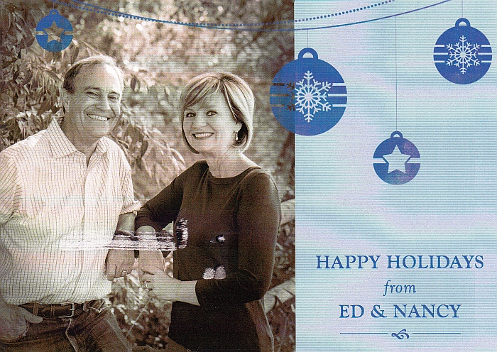 Ed & Nancy Perlmutter's 2014 Christmas card
