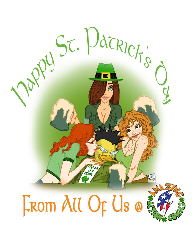 Amazing Action Comics St. Patrick's Day