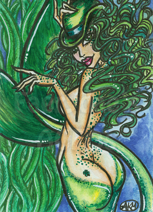 Muireann : Irish Mermaid ACEO by alyssakay