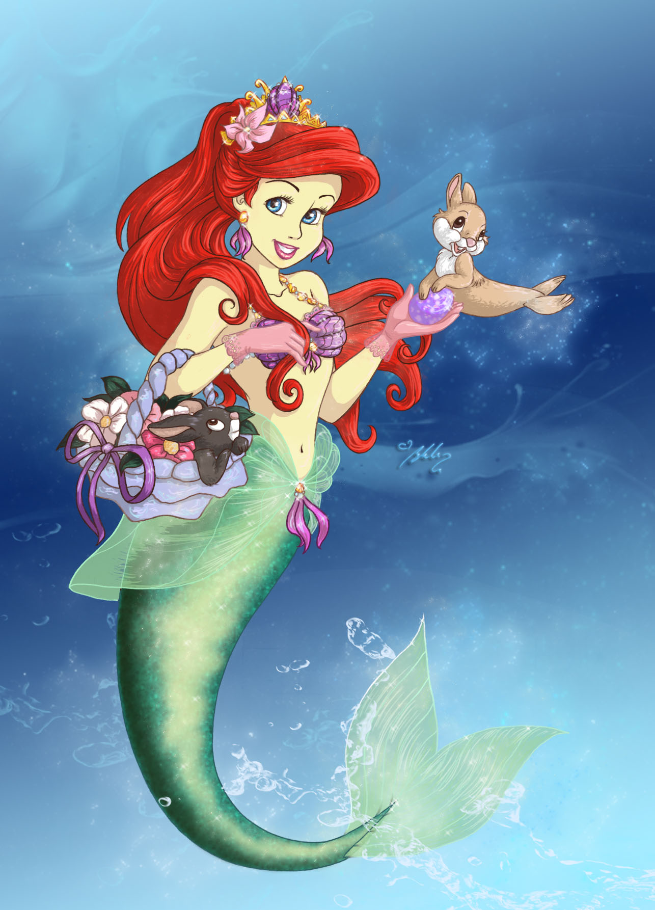 ariel happy easter by yummingdoe4