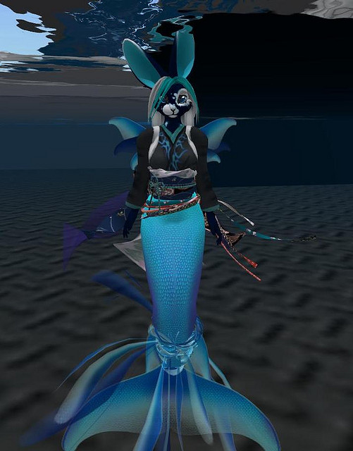 Blue Mermaid Bunny