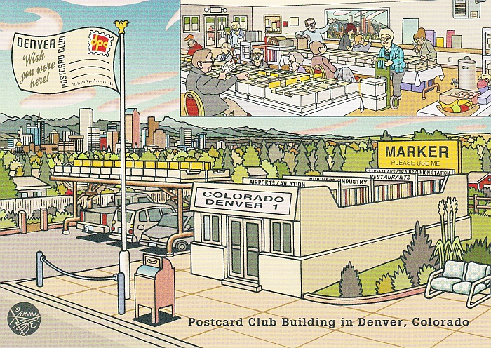 Denver Postcard Club by Kenny Be