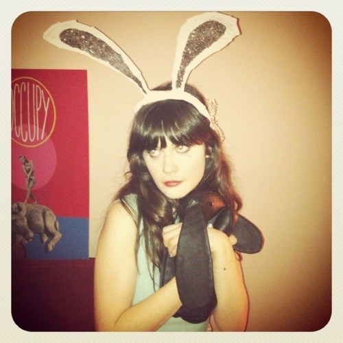 Zooey Deschanel bunny