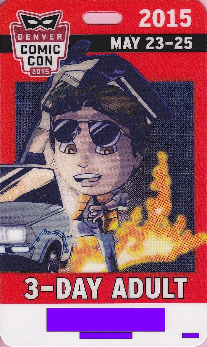 Denver Comic Con 2015 Badge