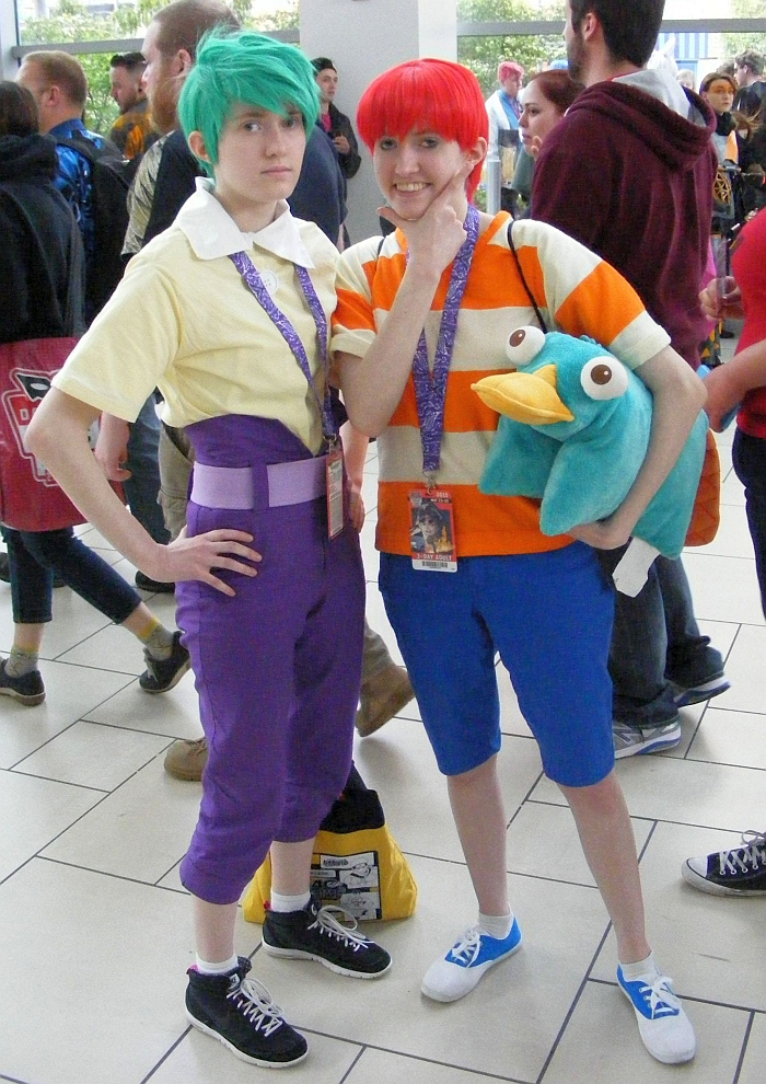 Ferb and Phineas at Denver Comic Con 2015