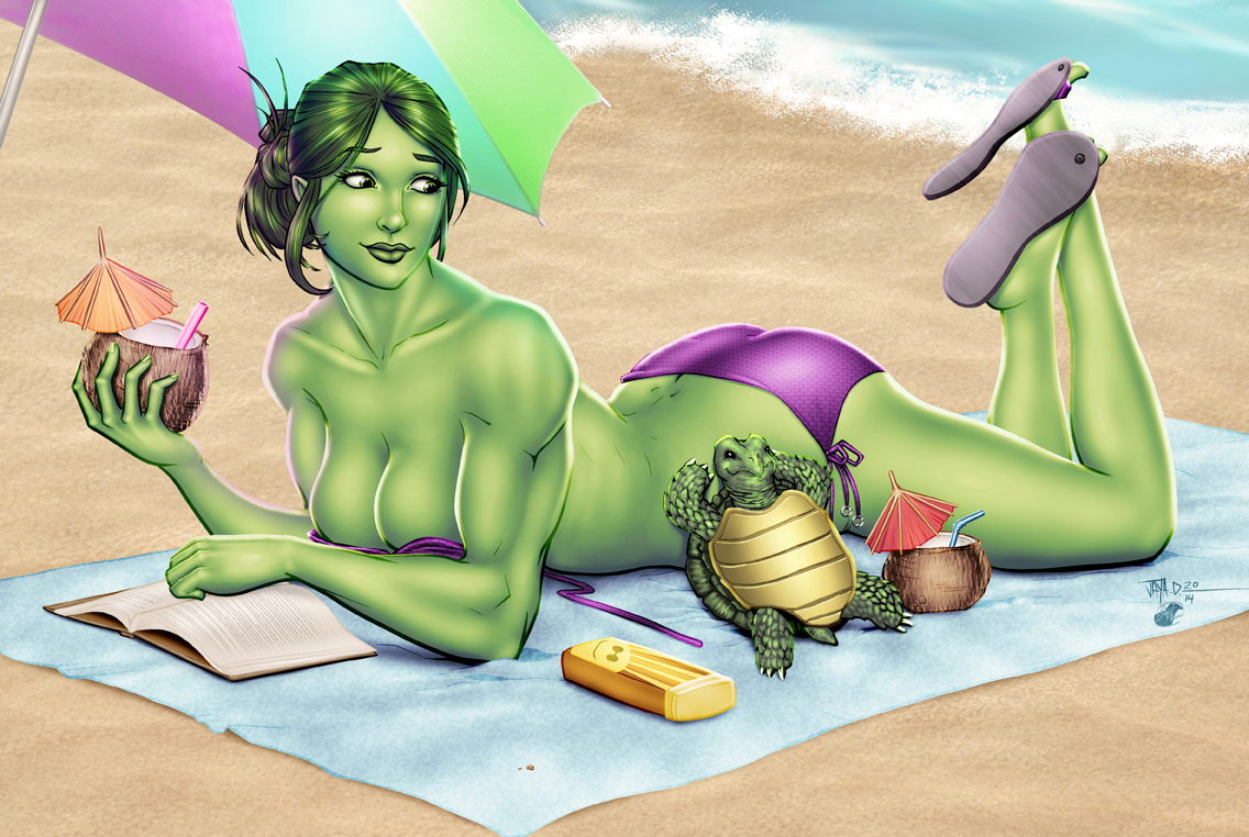 She-Hulk and Turtle by Jay De Foy and Tracy Wong