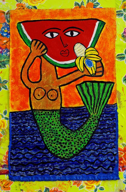 http://www.casadeduende.com/Ralfka-Gonzalez-Artworks-Idiots-Icons-Idols