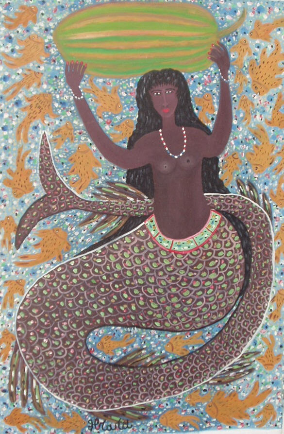 Mermaid with Watermelon by Gerard Fortune