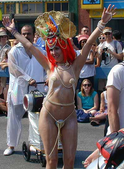 Aquatic showgirl at Coney Island Mermaid Parade