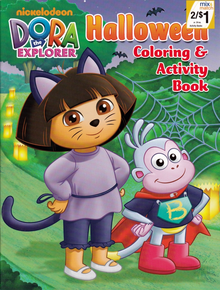 coloring pages dora halloween book - photo#35