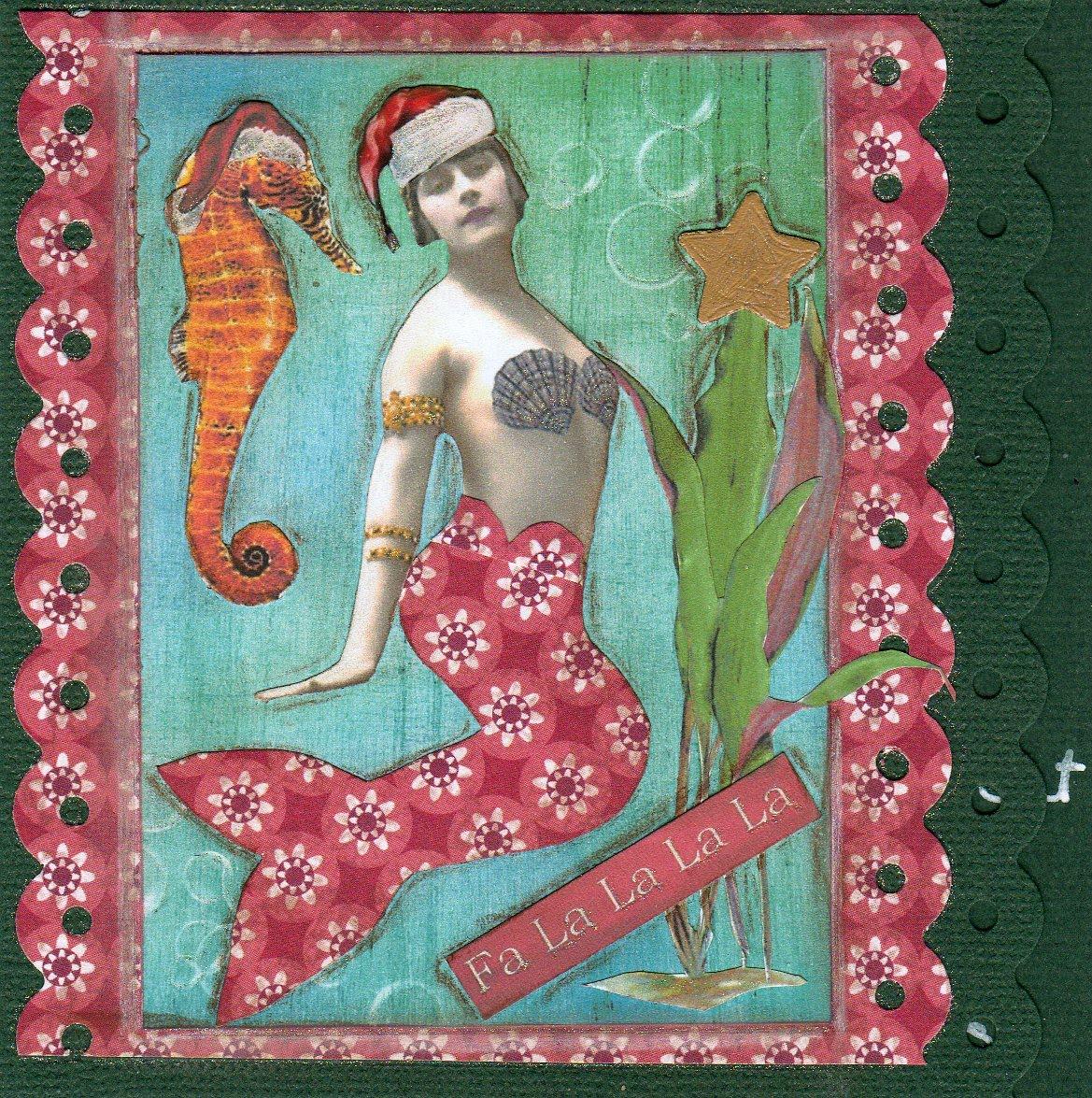 Mermaid Christmas Card