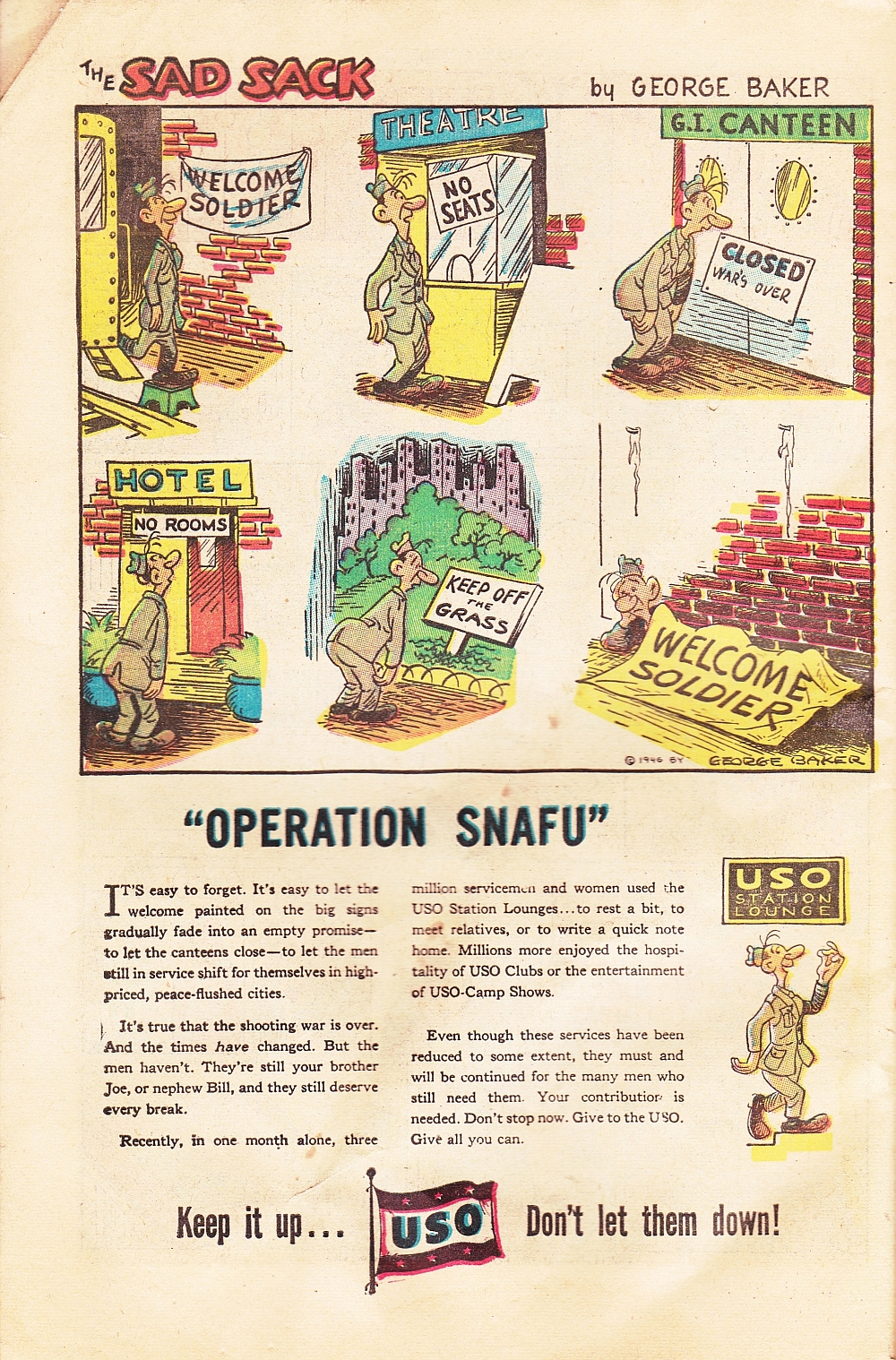 Sad Sack USO ad