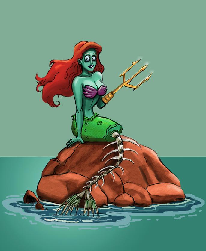 Zombie Ariel by RoaP