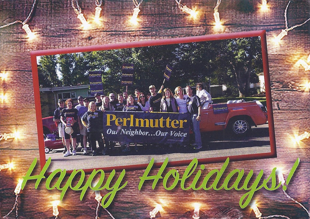 Perlmutter Xmas card
