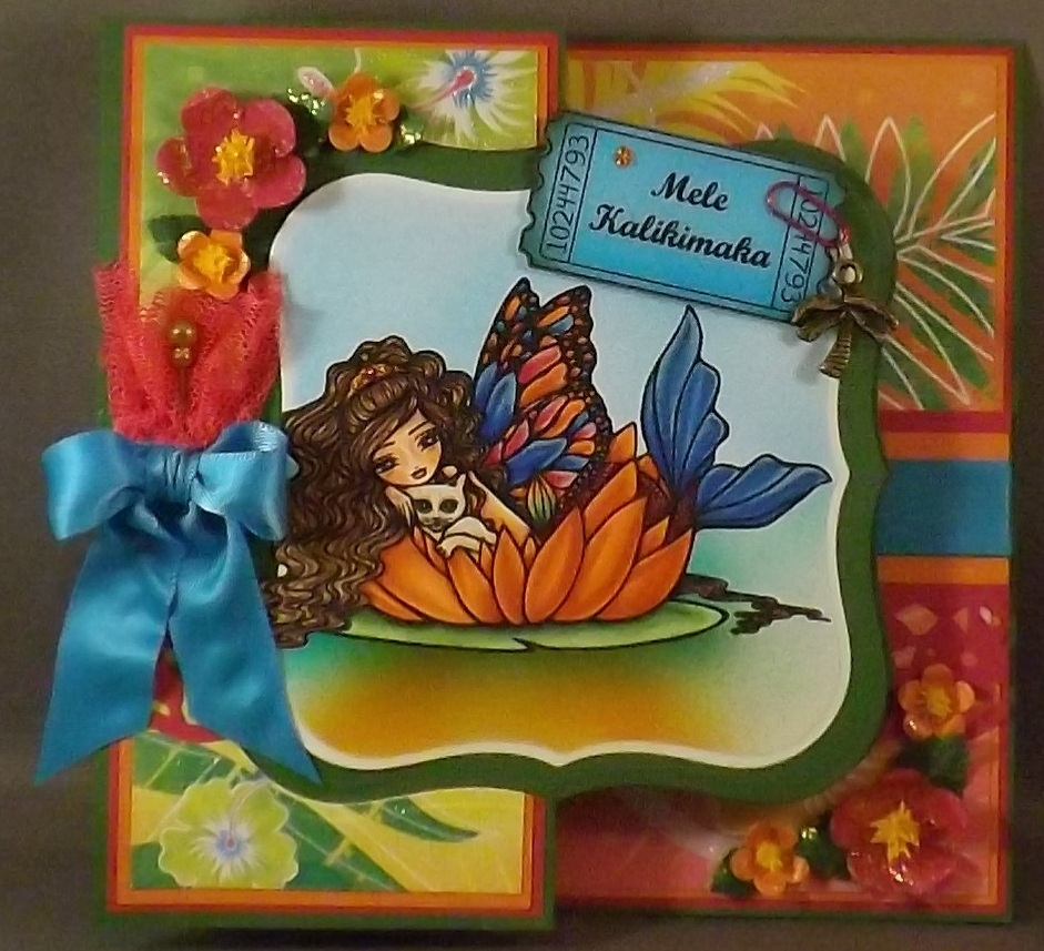 Mermaid Christmas Card 13