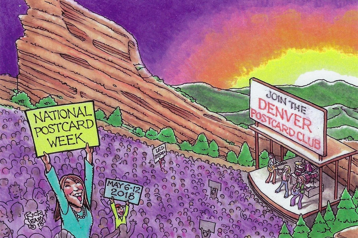 Denver Postcard Club's National Postcard Week 2018 card!