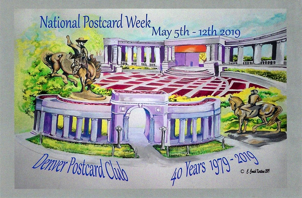Denver Postcard Club's National Postcard Week 2019 card!