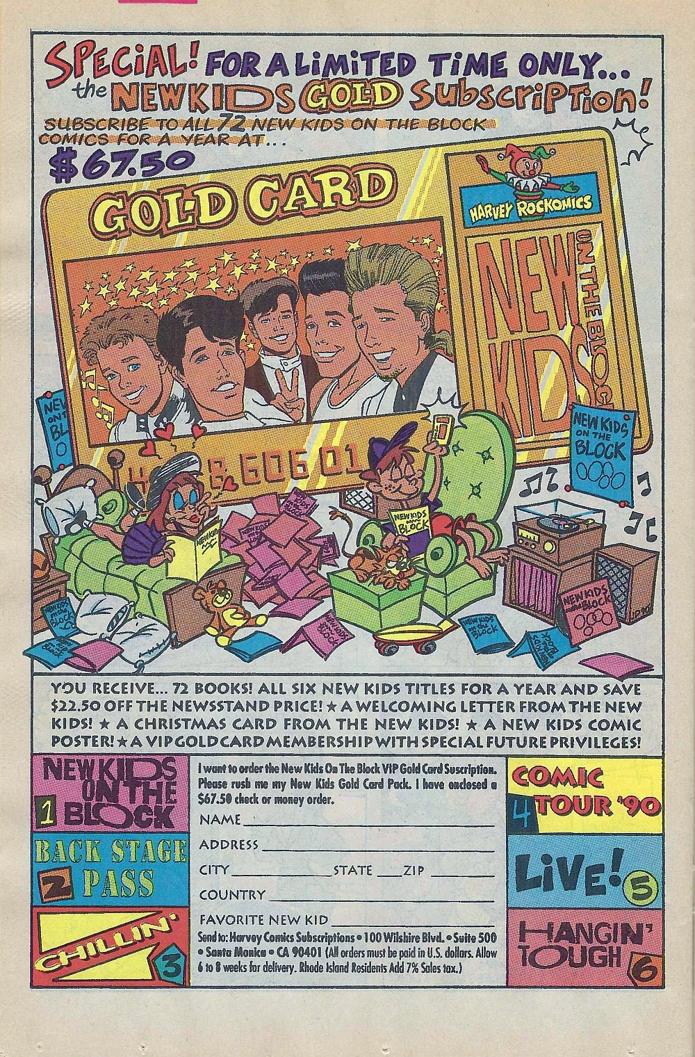 Ad from New Kids on the Block #2 (Jan 1991)