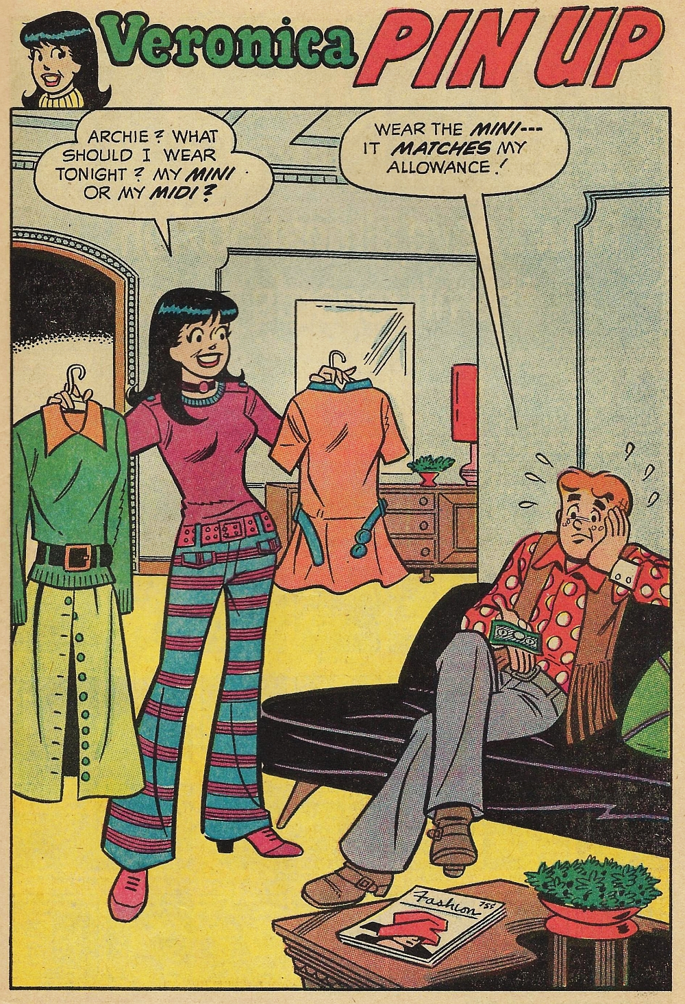 Pin-up page #3 from Archie's Girls Betty and Veronica #183