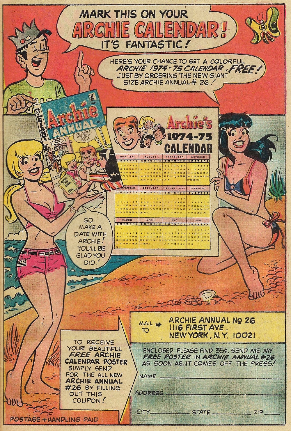 Ad for Archie Annual #26 from Life With Archie #147