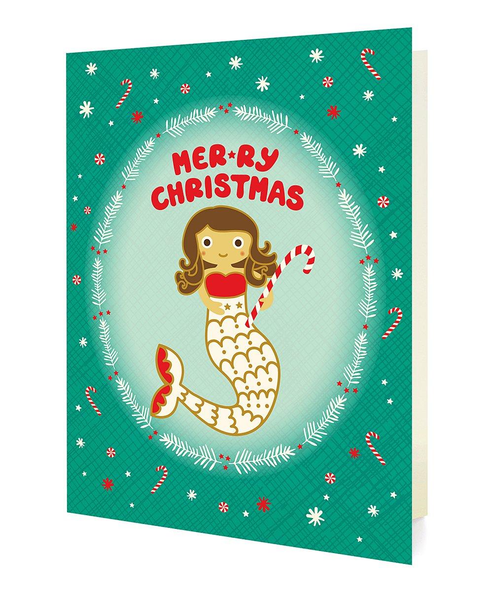 Mermaid Christmas Card 17