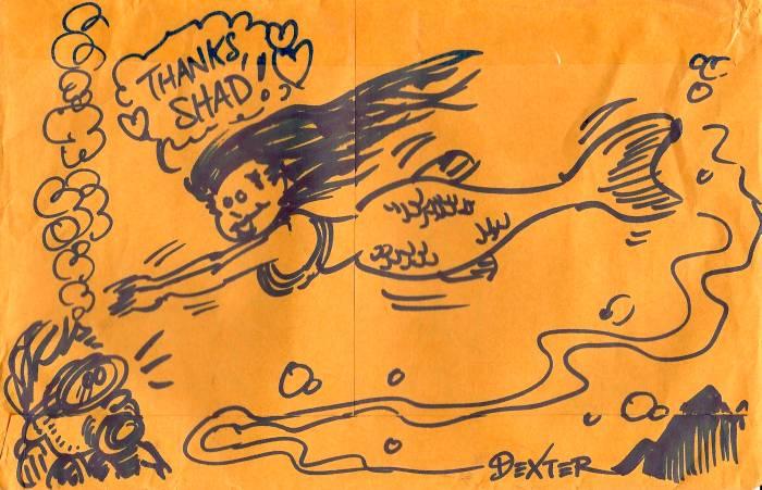 Envelope mermaid by Dexter Cockburn