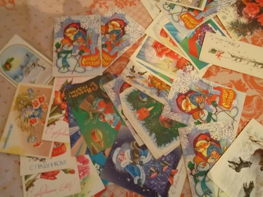 Отдам даром советские открытки, гифки юбилеем