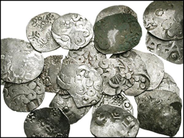 Индийские монеты - kosala karshapanas (525-–465 гг. до н.э.)