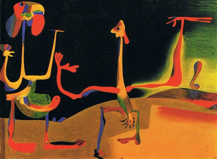 Joan Miró - Hombre y mujer frente a un montón de excrementos . 1935.jpeg