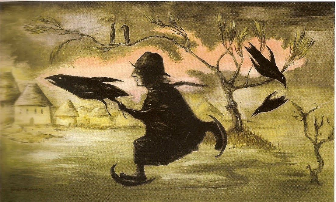 Leonora Carrington - The Crow Catcher, 1990.jpg