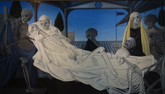 Не Дали единым Paul Delvaux - La Mise au tombeau 1951.jpg