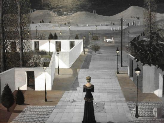 paul delvaux - landscape with lanterns 1958.jpg