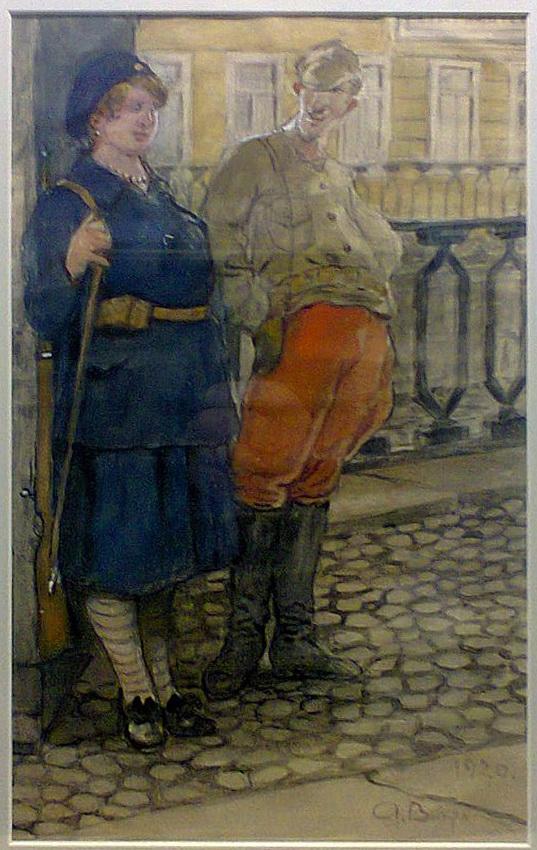Вахрамеев Александр. Из цикла Типы революции. 1920-е. via timur0.jpg