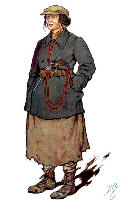 Зворыкин Female Agent of the Cheka Secret Police by Zvorykine.jpg