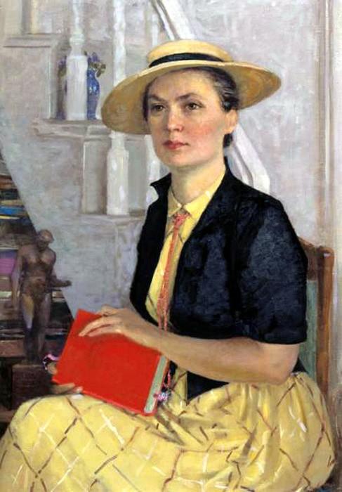 Александр Самохвалов. Портрет Марии Алексеевны Клещар-Самохваловой, второй жены художника, 1957.jpg