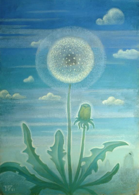 Б.Смирнов-Русецкий. Одуванчик на синем небе, 1981, к.п.,69х50.jpg