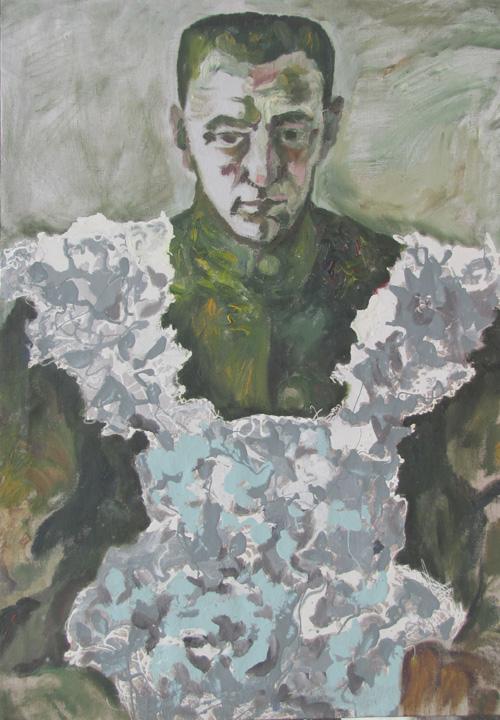 Алтунин К.В. Бежал, переодевшись с женское платье (Керенский). 2011 г..jpg