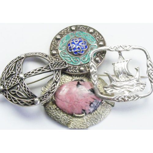 Vintage Celtic Brooches.JPG