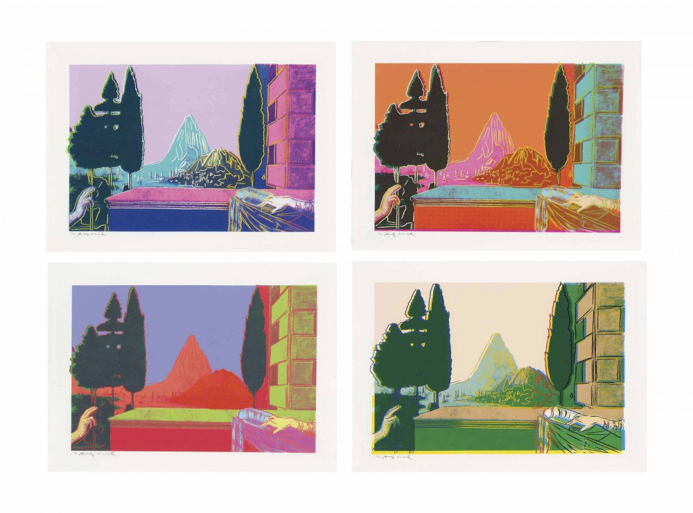 Andy Warhol, Details of Renaissance Paintings (Leonardo Da Vinci, The Annunciation, 1472),1984 ,Screenprint on Arches Aquarelle (Cold Pressed) Paper.…