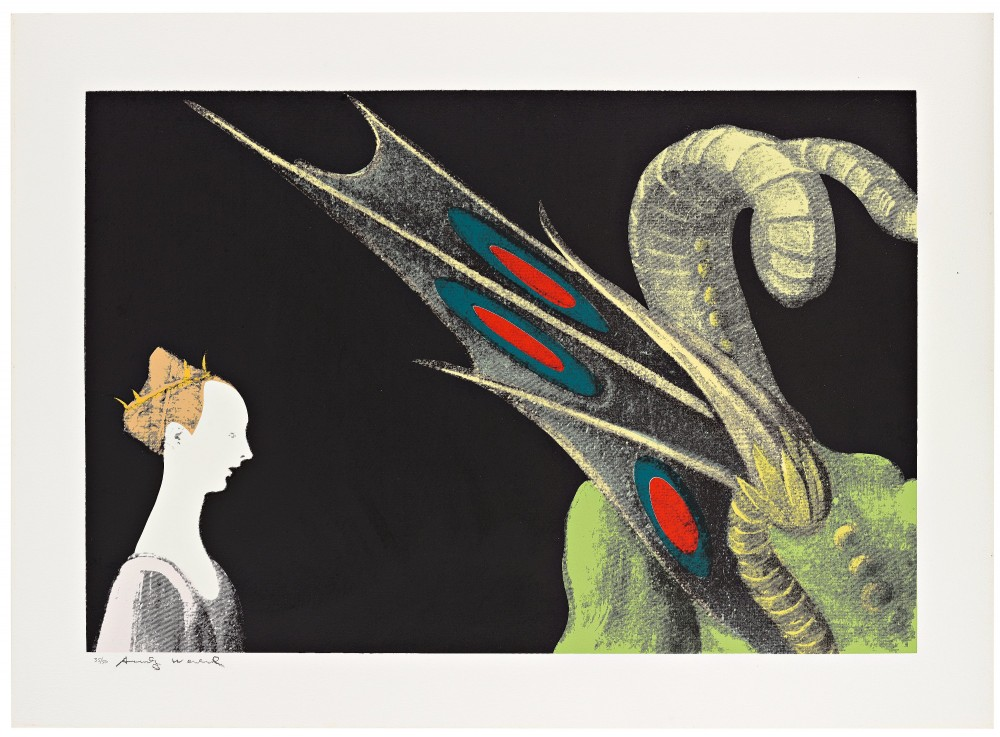 Andy Warhol, Details of Renaissance Paintings (Paolo Uccello, St. George and the Dragon, 1460),1984 ,Screenprint on Arches Aquarelle (Cold Pressed) P…