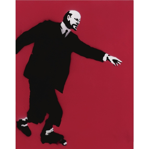 Banksy. Lenin on Skates (Who Put the Revolution on Ice7), 2002.Jpeg