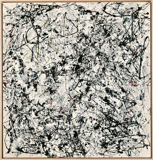 Portrait of V.I Lenin by V. Charangovitch (1970) in the style of Jackson Pollock III, 1980.Jpeg