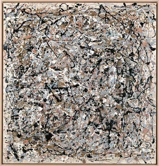 Portrait of V.I. Lenin in the style of Jackson Pollock VII, 1980.Jpeg