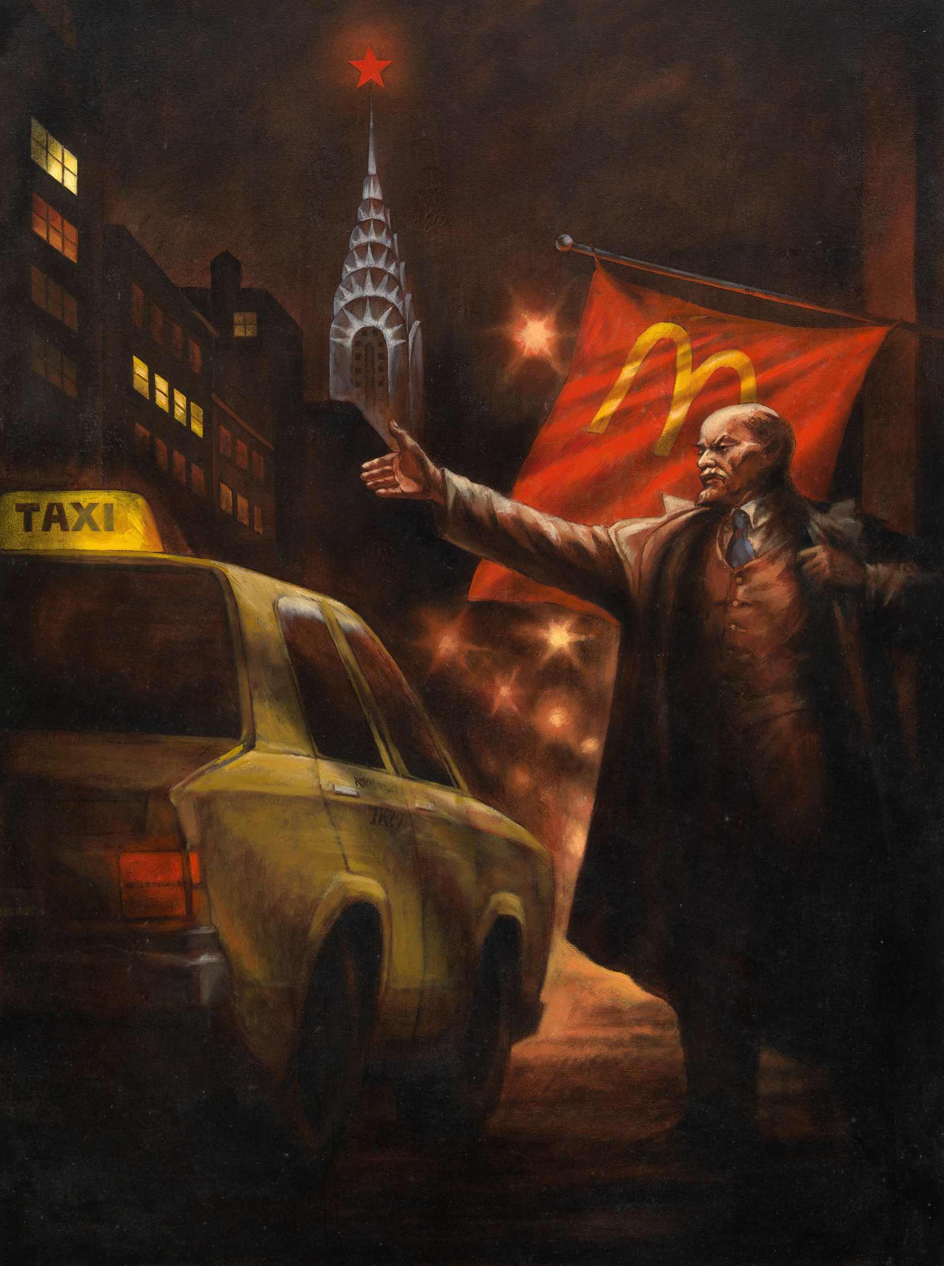 Komar & Melamid. Lenin Hails a Cab in New York, from the Series Monumental PropagandaLenin's Tomb.jpg