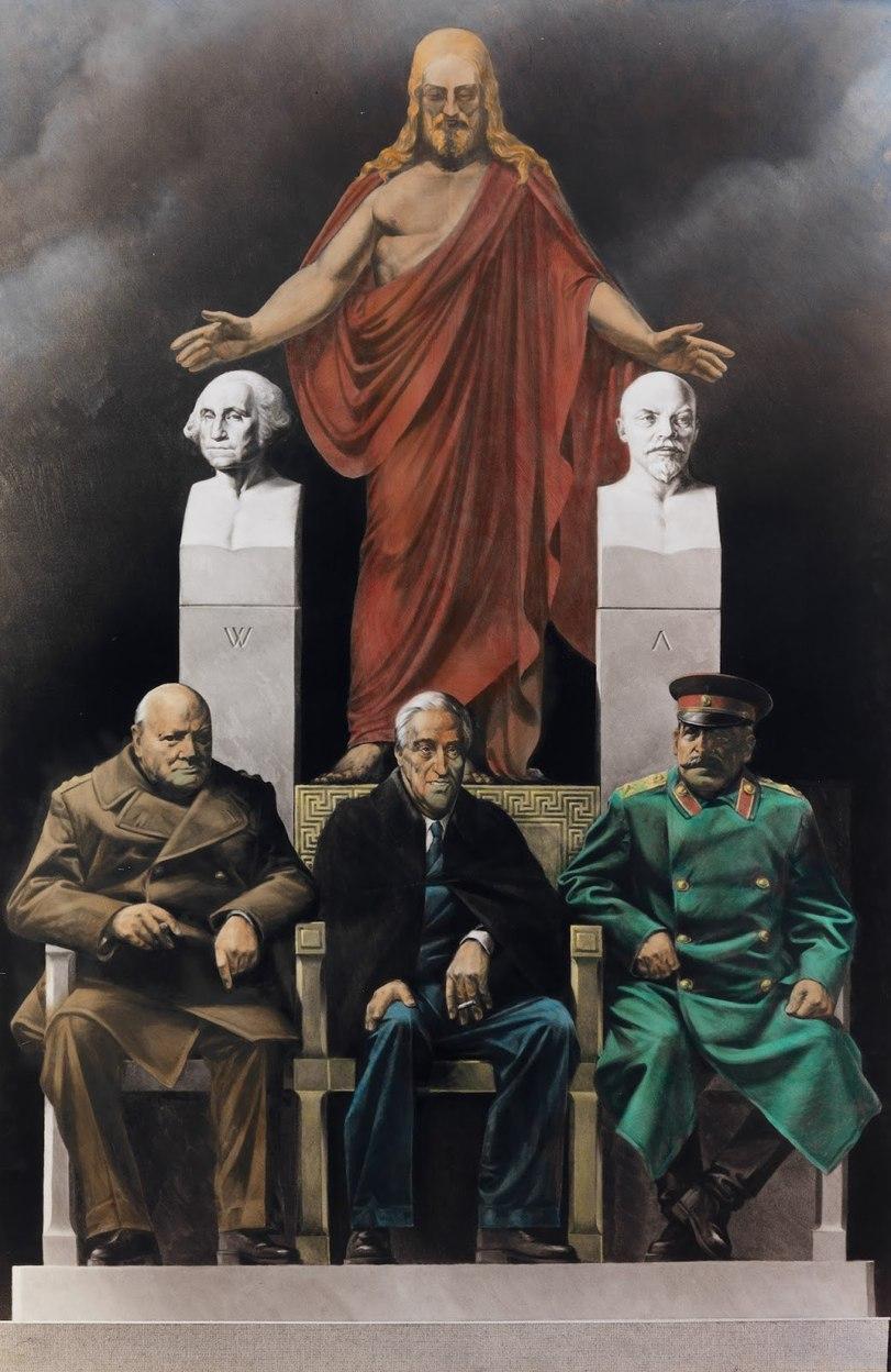 Komar & Melamid. Серия Ялтинская конференция. Союзники, 1985-1995.jpeg