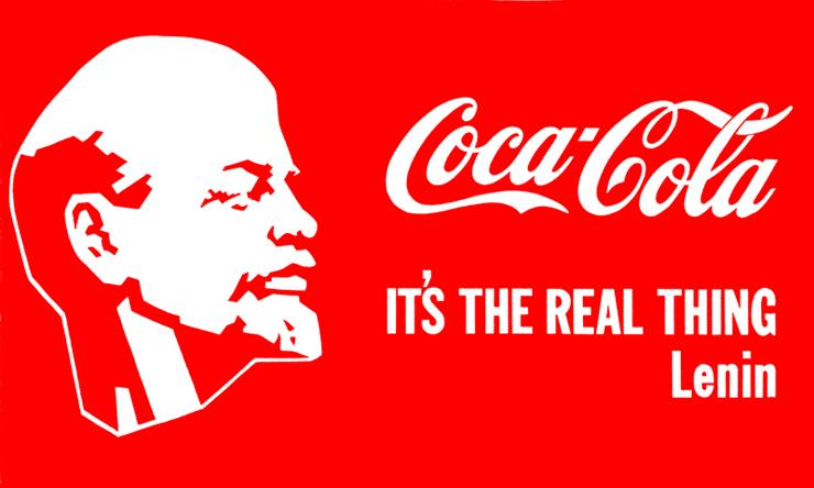 Alexander Kosolapov Lenin Coca-Cola, 1980.png